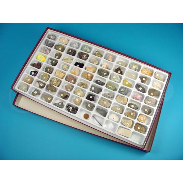 Colección 75 rocas y minerales