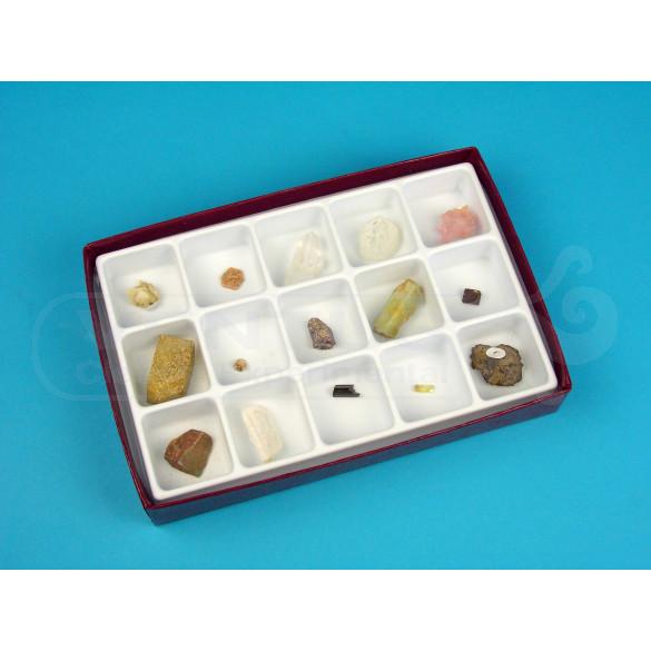 Colección cristalización de minerales