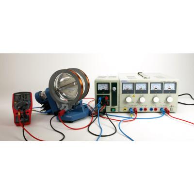 Desviación electrones en campos eléctricos y magnéticos