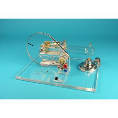 Motor Stirling de vidrio