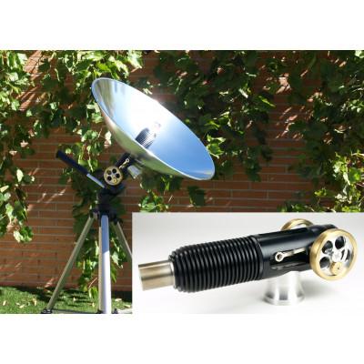 Motor Stirling con parábola solar