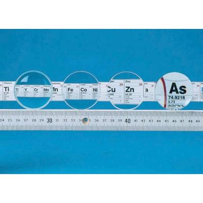 Lente biconvexa f = +100 mm