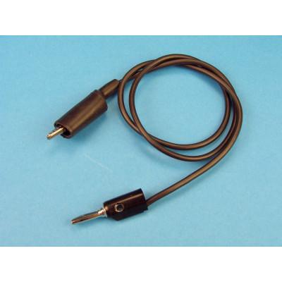 Cable banana 4 mm - pinza negro, 60cm