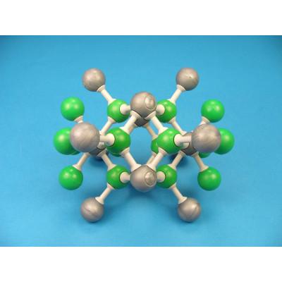Red cristalina de Fluorita (fluoruro cálcico)