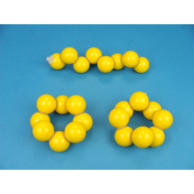 Red cristalina de Azufre 3 moléculas S8