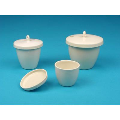 Crisol porcelana con tapa 50 ml, 53 mm Ø