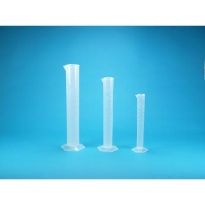 Probeta graduada polipropileno, 250 ml / 2 ml