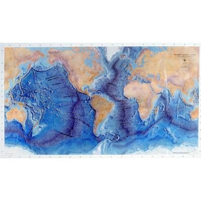 Mapa: Maqueta del fondo oceánico