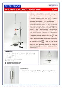 10444 Exponente adiabatico del aire