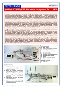 10458 Motor Stirling III - Eficiencia y diagrama PV