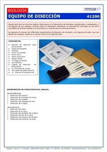 41200 EQUIPO DE DISECCION