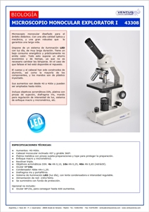 43308 MICROSCOPIO MONOCULAR LED EXPLORATOR I