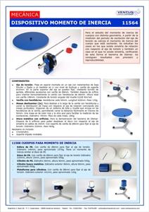 11564-68 DISPOSITIVO Y CUERPOS PE MOMENTO DE INERCIA