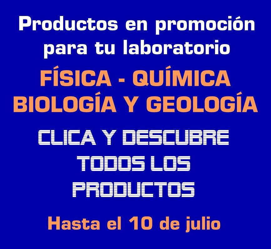 Promocion ofertas productos laboratorio fisica quimica biologia ciencias